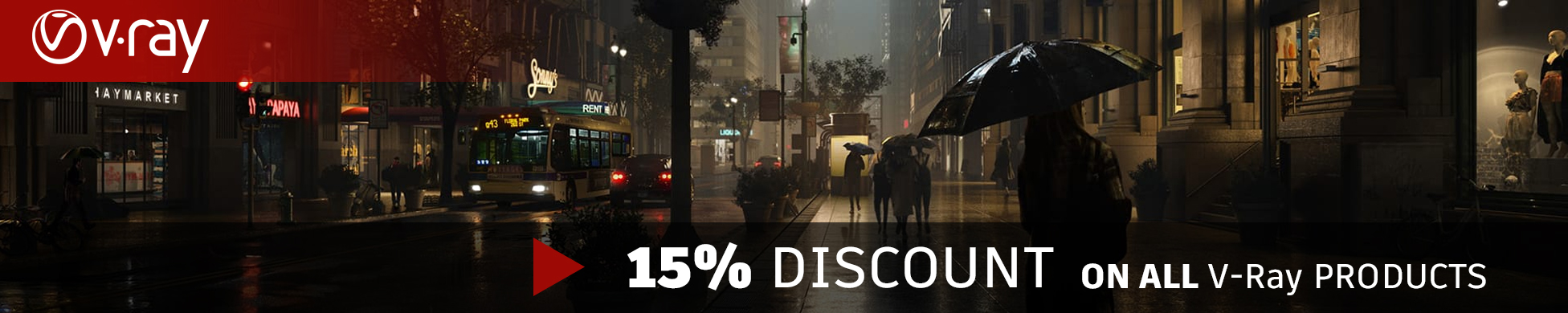 15% Discount on V Ray Next for 3DS Max